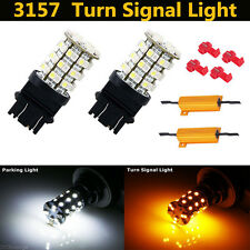 3157 Switchback Dual Color 60-SMD LED Turn Signal Light Bulbs with Load Resistor