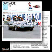 #011.15 JAGUAR XJ 13 (XJ13) V12 1967 - Fiche Auto Car card
