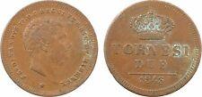 Italie, 2 torinesi, Ferdinand II, 1843, les deux Siciles, cuivre - 59