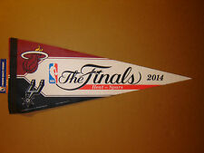 2014 NBA Finals Miami Heat vs San Antonio Spurs Basketball Pennant