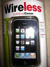 Just Wireless Softshell Cover iPhone 3G 3GS Smartphone Rubber Soft Case Smoke