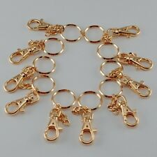 Key Chain Key Holder Key Ring w/Hook Gold - Lot of 10