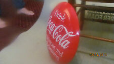 "LARGE 14"" COCA COLA COKE RED BUTTON EMBOSSED TIN METAL SIGN 3-D VERY RARE"