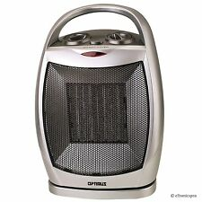 NEW OPTIMUS 750/1500 W PORTABLE OSCILLATING CERAMIC SPACE HEATER with THERMOSTAT