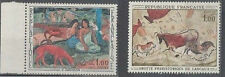 2 french stamps - MNG - 1968 Gauguin and Lasaux - see scan