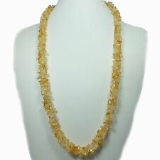 Citrine Chip Bead Rope Style Necklace (EA2103M) crystal stone gem healing reiki