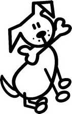 MY FAMILY CAR WINDOW STICKER Dog with bone in mouth (D5) *1st class post*