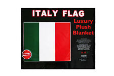 "ITALY COUNTRY FLAG LUXURY PLUSH BLANKET BEDSPREAD..79"" X 94"" INCHES"