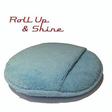 "150mm 6"" Round Foam Filled Microfiber Applicator Pad with Pocket by Autobrite"