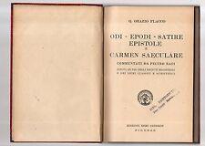 q.o.flacco-di-epodi-satire-epistole e carmen saeculare commentate da p. rasi