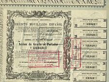 Spain Credit Company stock certificate 1875