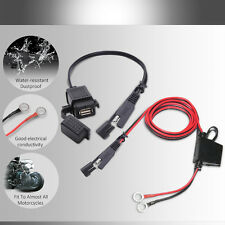 2.1A Waterproof Motorcycle SAE to USB adaptor charger with wiring Harness Kits