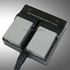 Dual Charger +2x1800mAh Battery for LP-E8 LCE8E Canon 550D 600D 650D 700D Camera