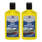 2 x Bluecol Repellent Improves Car Windscreen Visibility Repels Rain Sleet Snow