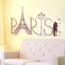 Paris Eiffel Tower Art Decal Wall Sticker Bedroom Home Decor Removable Mural DIY