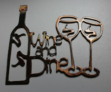Wine metal wall art ebay for Wine and dine wall art