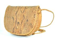 BROWN GENUINE LEATHER REAL SNAKE SKIN BAG SHOULDER HANDBAG MESSENGER  ORGANIZER