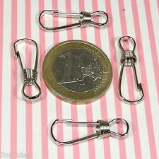 38 Piezas Para LLaveros / Bolsos 25mm  M777X  Acero Inoxidable Key Ring Pieces