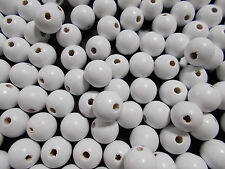 50pcs 12mm WOODEN Round Spacer Wood Beads - WHITE ( A Grade )