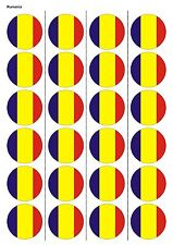 24X PRECUT ROMANIA FLAG BIRTHDAY EDIBLE WAFER PAPER, CUPCAKE, CAKE TOPPERS 1220