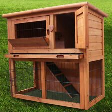 3FT RABBIT HUTCH / GUINEA PIG RUN / DELUXE PET HUTCHES / FERRET CAGE PETS HOUSE