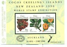 FIORI - FLOWERS COCOS (KEELING) ISLANDS 1990 Self-adhesive block