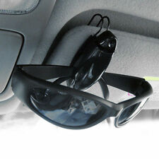 Car Sun Visor Sunglasses Eye Glasses Card Pen Black Holder Clip PVC Accessory