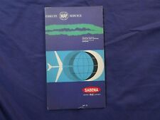 "1960'S Sabena ""You Are in Good Hands"" European Network Route Map -Flight Map vtg"