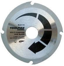 "Multi Purpose Circular Saw Blade 115mm 4 1/2 "" Angle Grinder Plastic MDF, Wood"