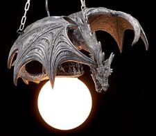 Drachenlampe - Drache im Flug - Lampe Deckenlampe Gothic Figur Fantasy