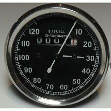 Smiths Type Speedometer Black Body 2:1 ration