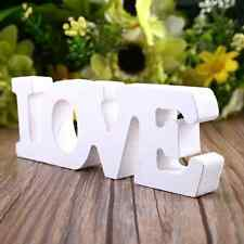 """Wooden Letter Alphabet Word Free Standing Party Home Decor """"LOVE"""" Creative"""