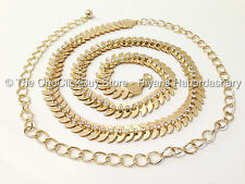 NEW DESIGNS Diamante Ladies Waist Chain Belt in Gold & Silver-One Size