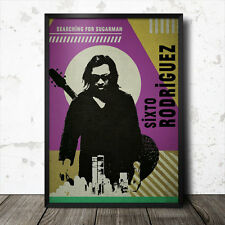 Sixto Rodriguez buscando Sugarman Pop Art Poster