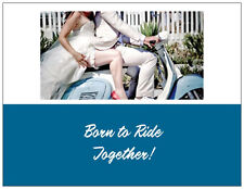 20  MOTORCYCLE Harley Born to Ride Bridal WEDDING Shower INVITATIONS & ENV Seals