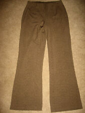 Womens Brown Patterned TALBOTS Stretch Elastic Knit Pants Small Petite