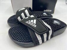 Adidas Adissage Sandal 078285 K Black White US Size 2 FREE SHIPPING BRAND NEW