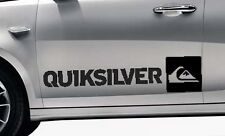 2x QUICKSILVER Surf Logo Vinile Auto / Van Grafica Decalcomania Adesivi Qualsiasi Colore VW # 1
