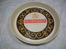 "VINTAGE BUDWEISER 13"" ROUND PLASTIC SERVING TRAY"