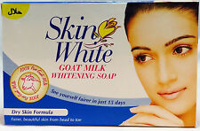 Skin White Whitening Soap New 100% Pure Goat Milk For DRY Skin Formula x 12 Soap