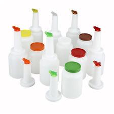 Winco PPB-2MX, 2-Quart Liquor and Juice Multi Pour Set with Assorted Color Spout