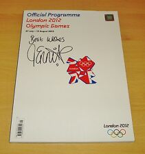 JESSICA ENNIS SIGNED AUTOGRAPH OFFICIAL 2012 OLYMPIC PROGRAMME + PROOF & COA