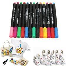 13 Colors Permanent Fabric Paint Marker T-Shirt Pen Clothes Shoes DIY Graffiti