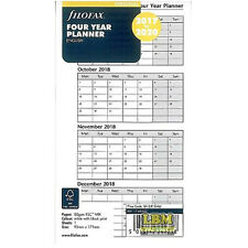 Filofax Personal 2017 to 2020 Four Year Planner Diary Insert Refill 17-68403 #AU