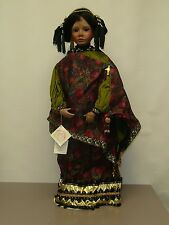 """World Gallery Samira 28"""" Porcelain Doll With 9"""" Doll by Patricia Loveless in Box"""