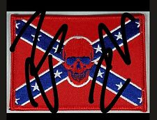 Edited pic to list. Info in description. Rebel patch. Skull. Motorcycle. Flag