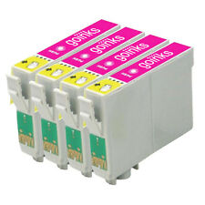 4 Light Magenta Ink Cartridges for Epson R200 R300 R330 R350 RX320 RX600 RX640