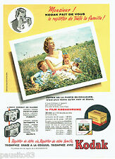 PUBLICITE ADVERTISING 056  1959  Kodak  le film Kodachrome  diapositive