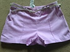 BNWT LIPSY Lilac Belted Shorts Hotpants RRP £30 Size 12