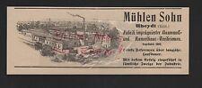 RHEYDT, Anzeige 1909, Mühlen Sohn Fabrik imprägnierter Baumwoll-Treibriemen